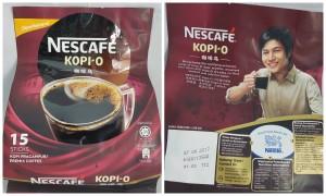 Nescafe Kopi-O Instant Coffee Pack, 15 Sachets. Malaysia Origin.
