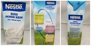 Nestle Full Cream UHT Milk 1 Litre Tetra Pack. Malaysia Origin.